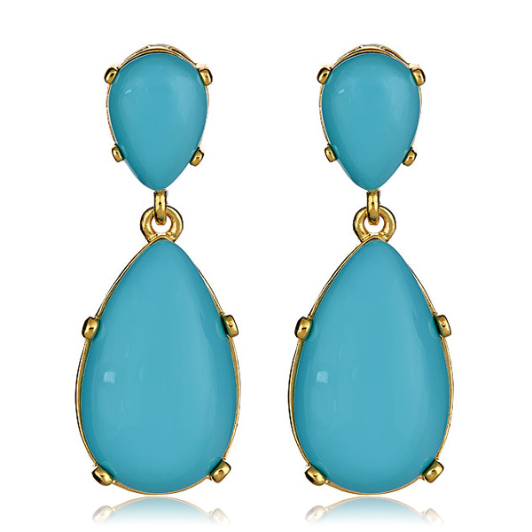 Turquoise Cab Earrings by KENNETH JAY LANE
