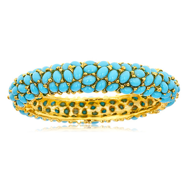 Turquoise Cabochon Bangle by KENNETH JAY LANE