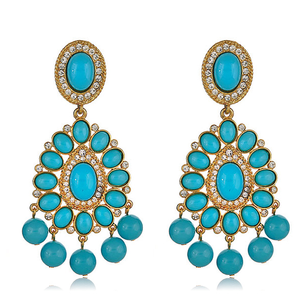Turquoise Earrings  by KENNETH JAY LANE