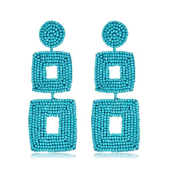 Turquoise Drop Beaded Earrings by KENNETH JAY LANE
