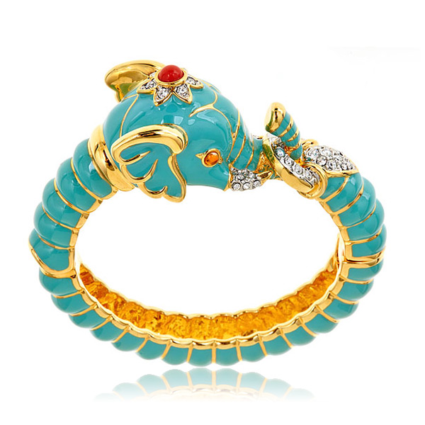 Turquoise Elephant Bracelet by KENNETH JAY LANE