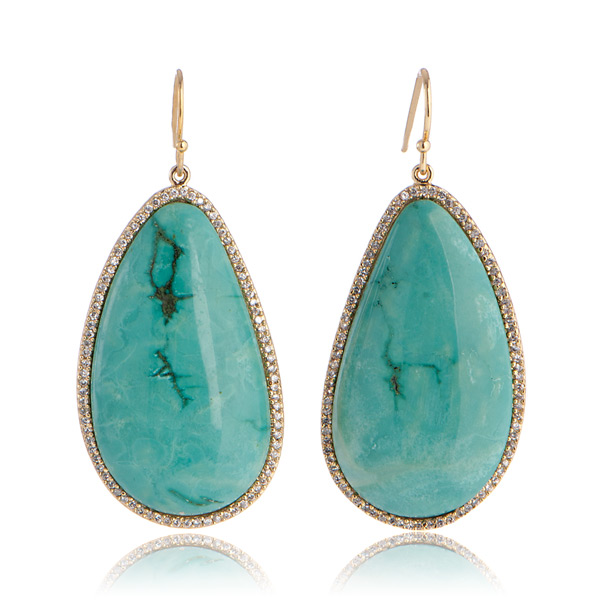Turquoise Envy Earrings by MARCIA MORAN