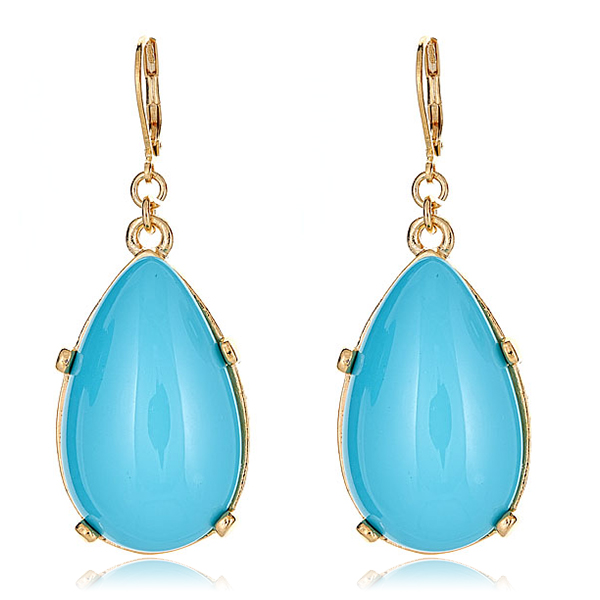 Turquoise Eurowire Earrings by KENNETH JAY LANE