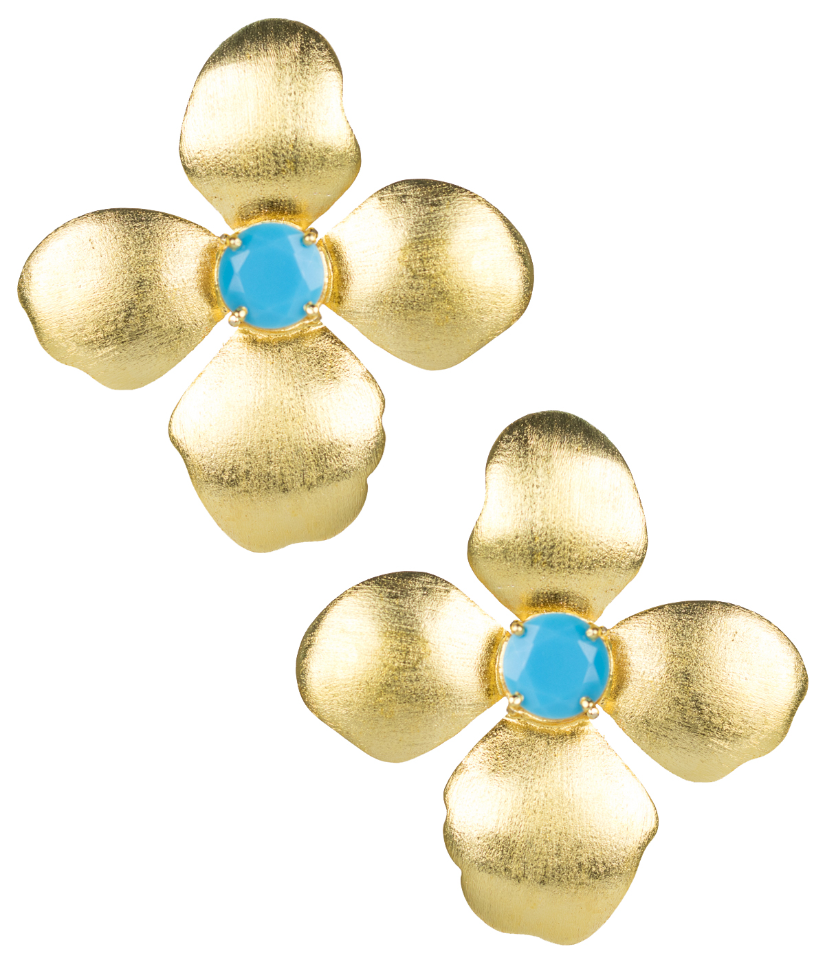 Turquoise Flower Earrings by LISI LERCH