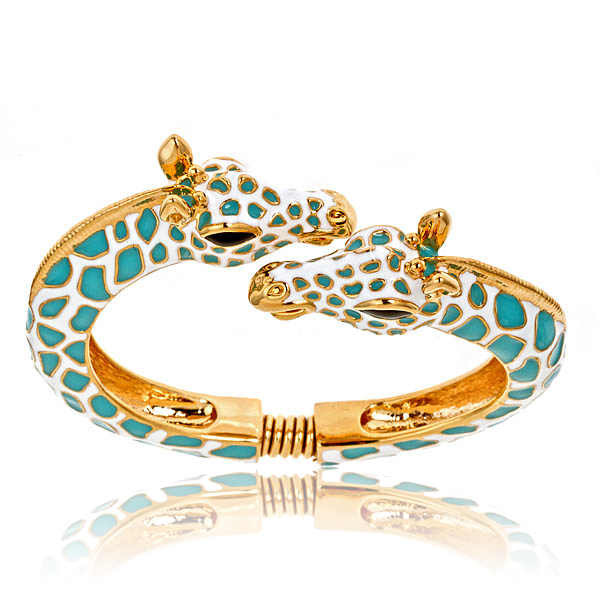 Turquoise Giraffe Bracelet by KENNETH JAY LANE