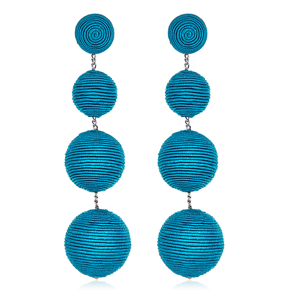 Turquoise Gumball Earrings by SUZANNA DAI