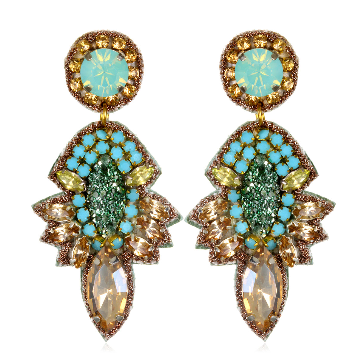 Turquoise Orsay Earrings by SUZANNA DAI