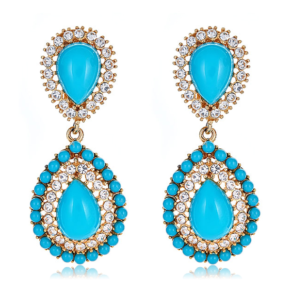 Turquoise Petra Earrings by KENNETH JAY LANE