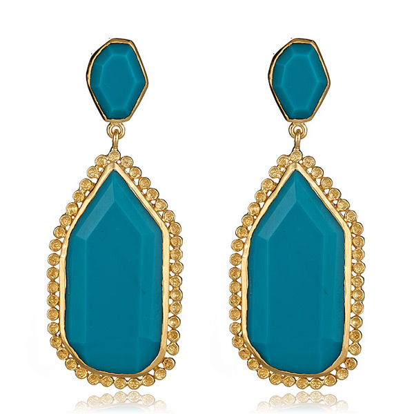 Turquoise Pod Earrings by MELINDA MARIA