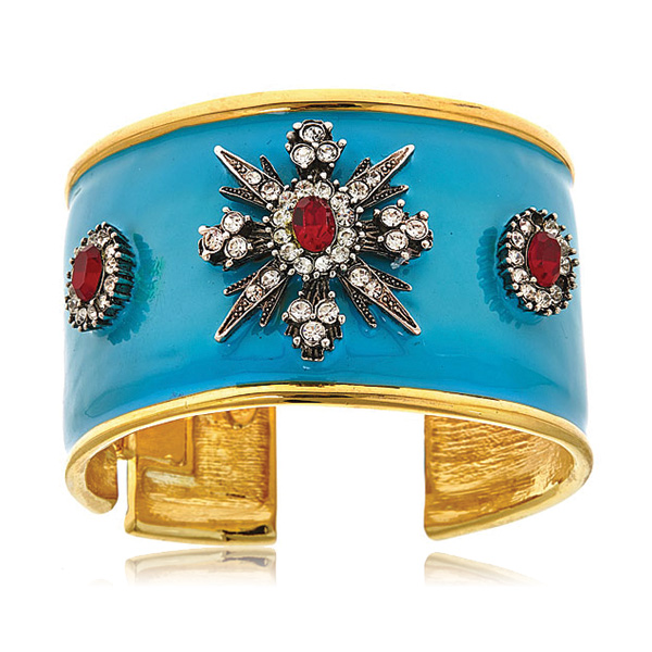 Turquoise Starburst Cuff  by KENNETH JAY LANE