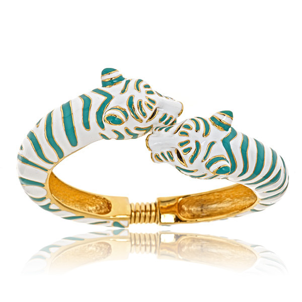 Turquoise Tiger Bracelet by KENNETH JAY LANE