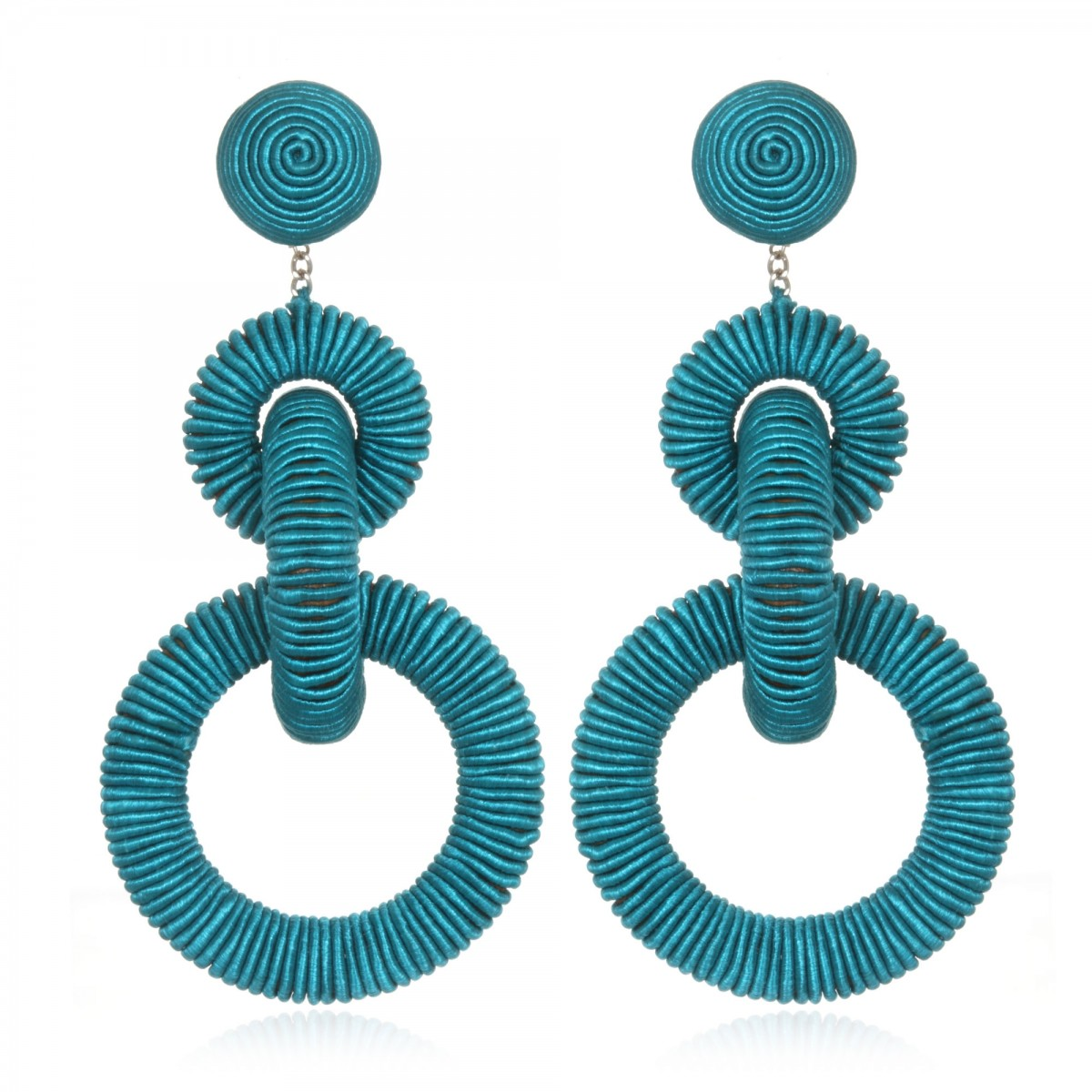 Turquoise Triple Tier Earrings by SUZANNA DAI