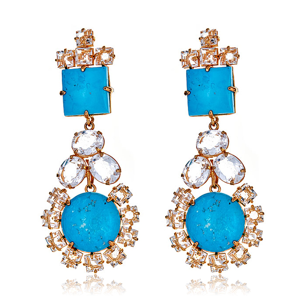 Bounkit Turquoise Earrings by BOUNKIT
