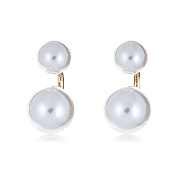 Two Tier Pearl Earrings by KENNETH JAY LANE