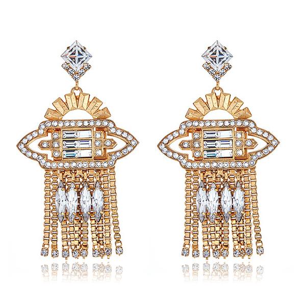 Velma Deco Crystal Earrings by ELIZABETH COLE