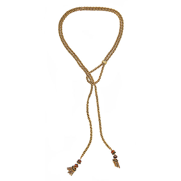 Kendra Rope Lariat Necklace by ELIZABETH COLE