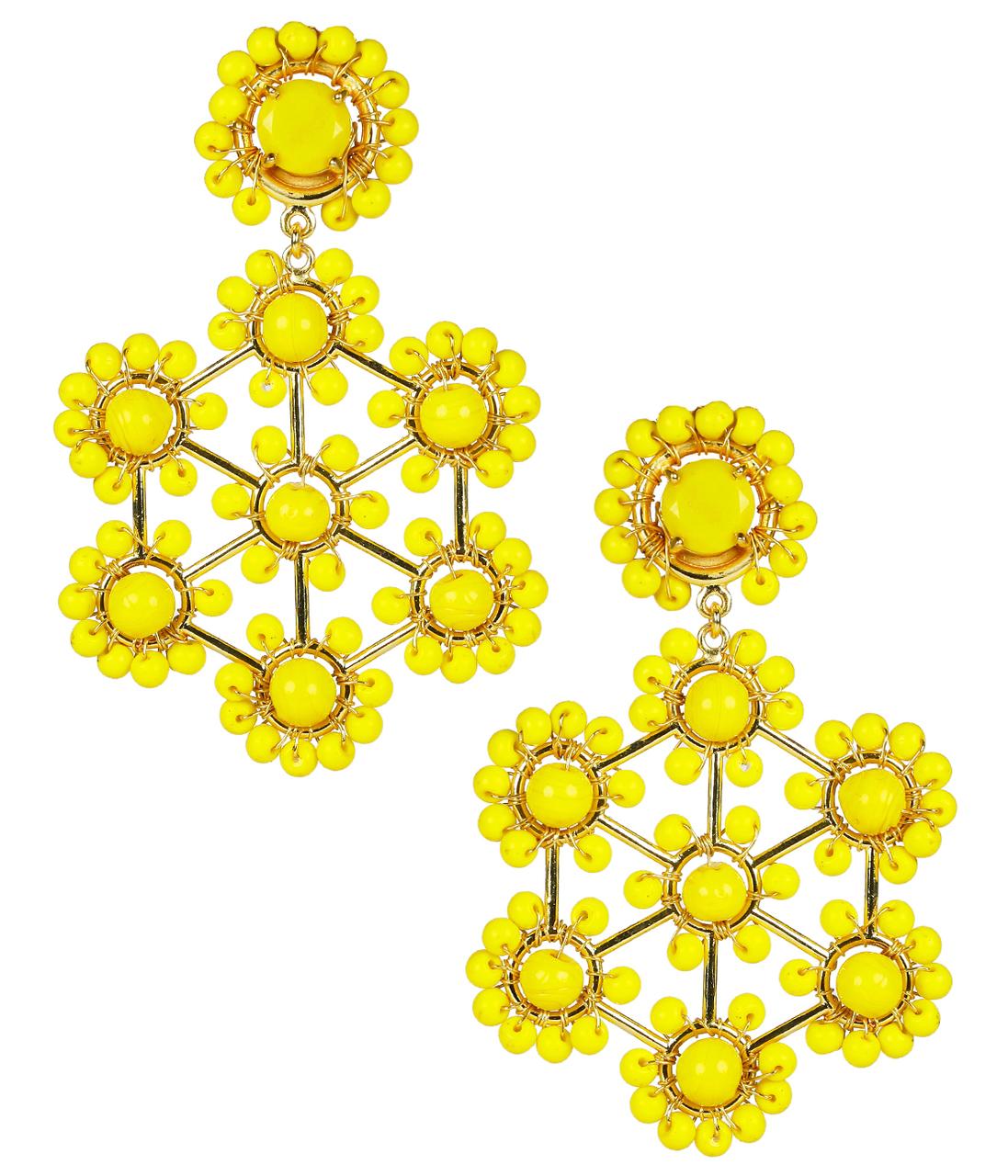 Vivi Yellow Earrings by LISI LERCH