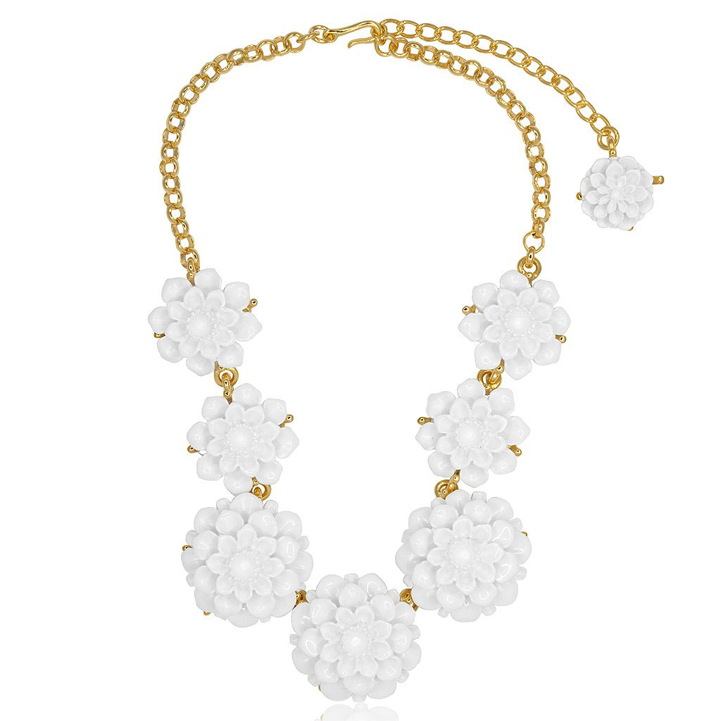 White Flower Necklace by KENNETH JAY LANE