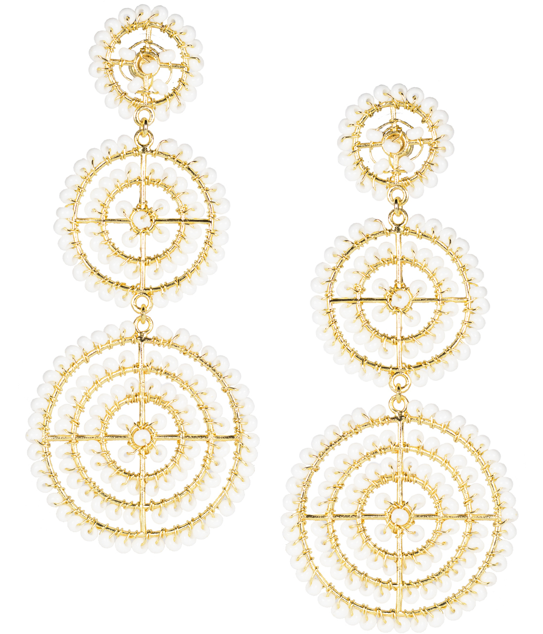 White Greta Earrings by LISI LERCH