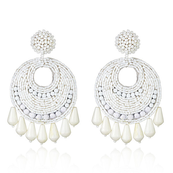 White Gypsy Earrings by Kenneth Jay Lane