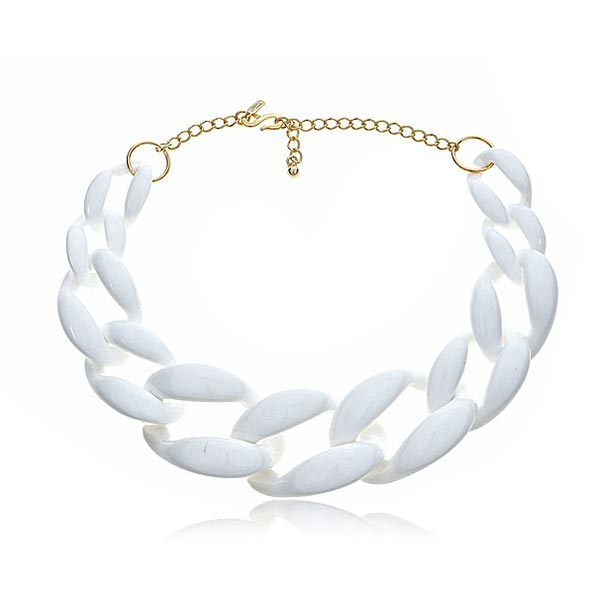 White Link Necklace by Kenneth Jay Lane