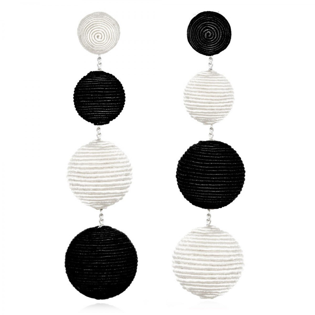 Black and White Bonbon Earrings by SUZANNA DAI