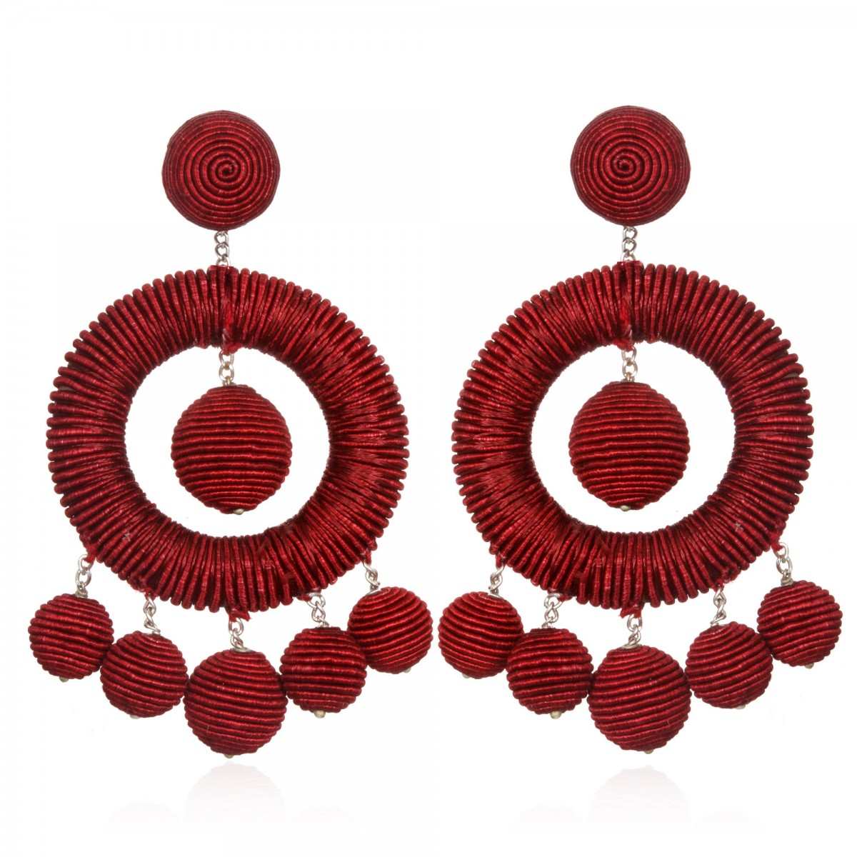 Wine Chandelier Earrings by SUZANNA DAI