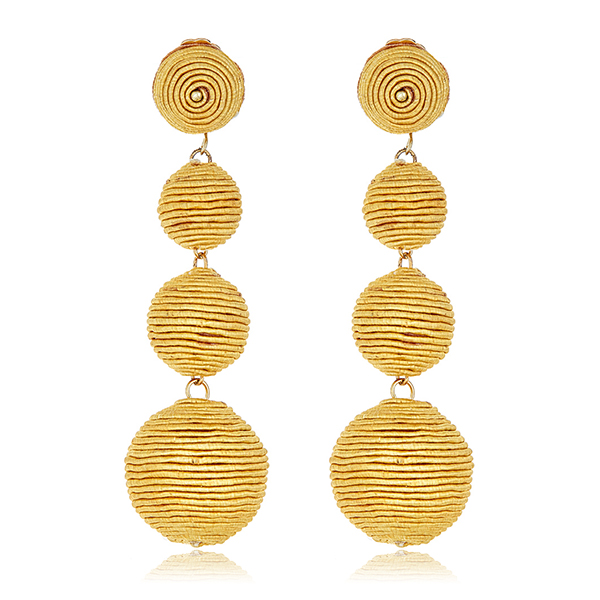 Yelllow Bon Bon Drop Earrings by KENNETH JAY LANE