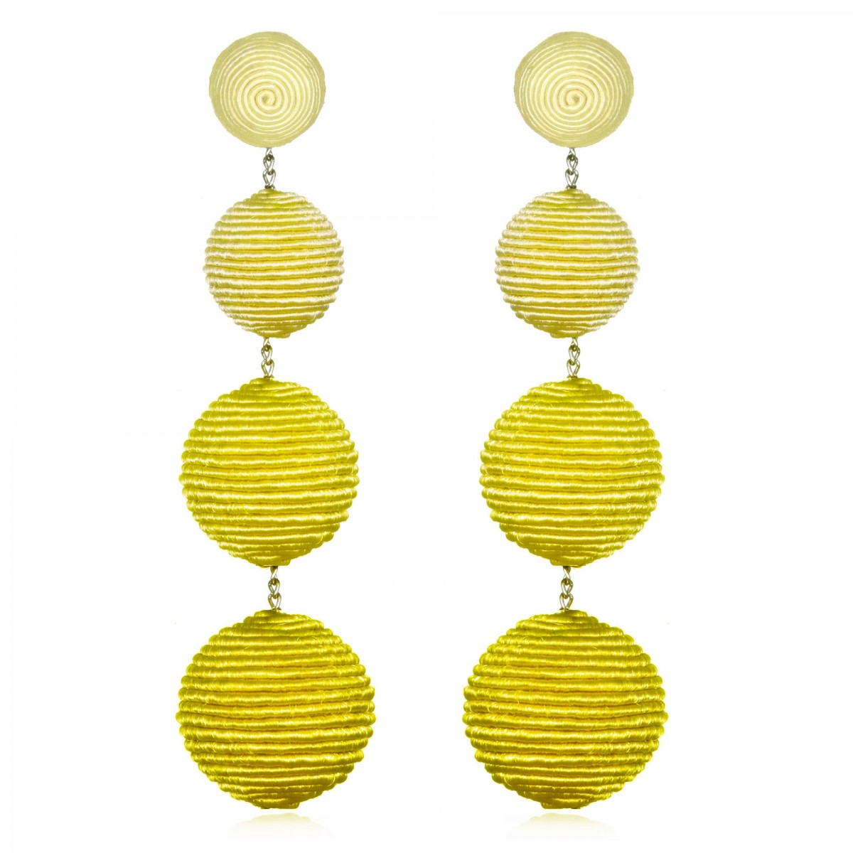 Yellow Ombre BonBon Earrings by SUZANNA DAI