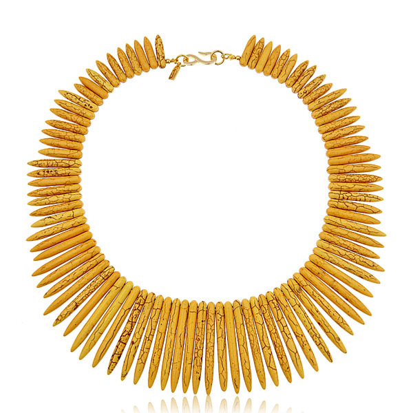 Yellow Sticks Necklace by KENNETH JAY LANE
