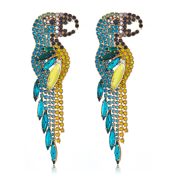 Zazu Parrot Bird Earrings by ELIZABETH COLE