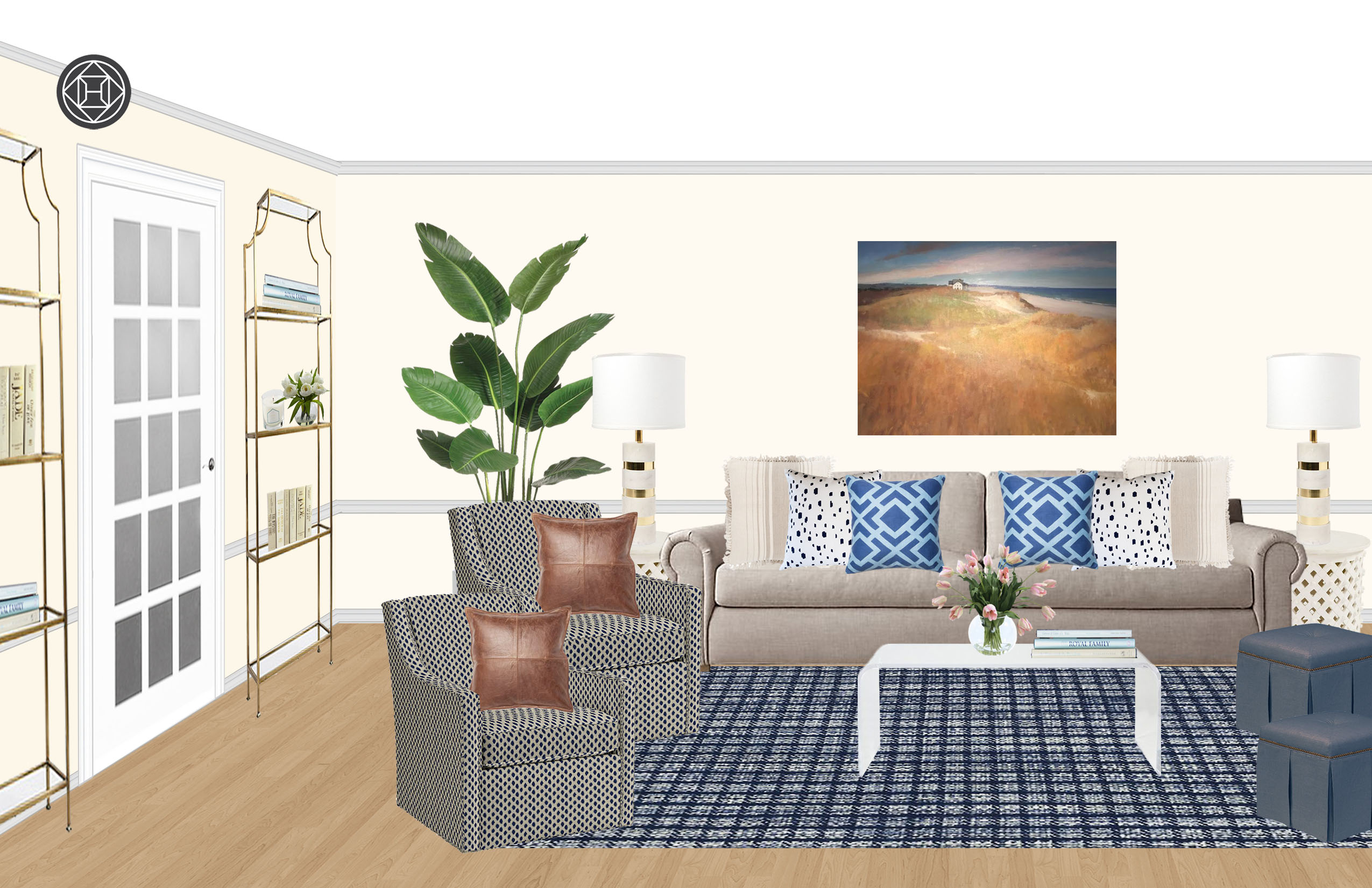 Pleasing Eclectic Transitional Living Room Design By Havenly Creativecarmelina Interior Chair Design Creativecarmelinacom