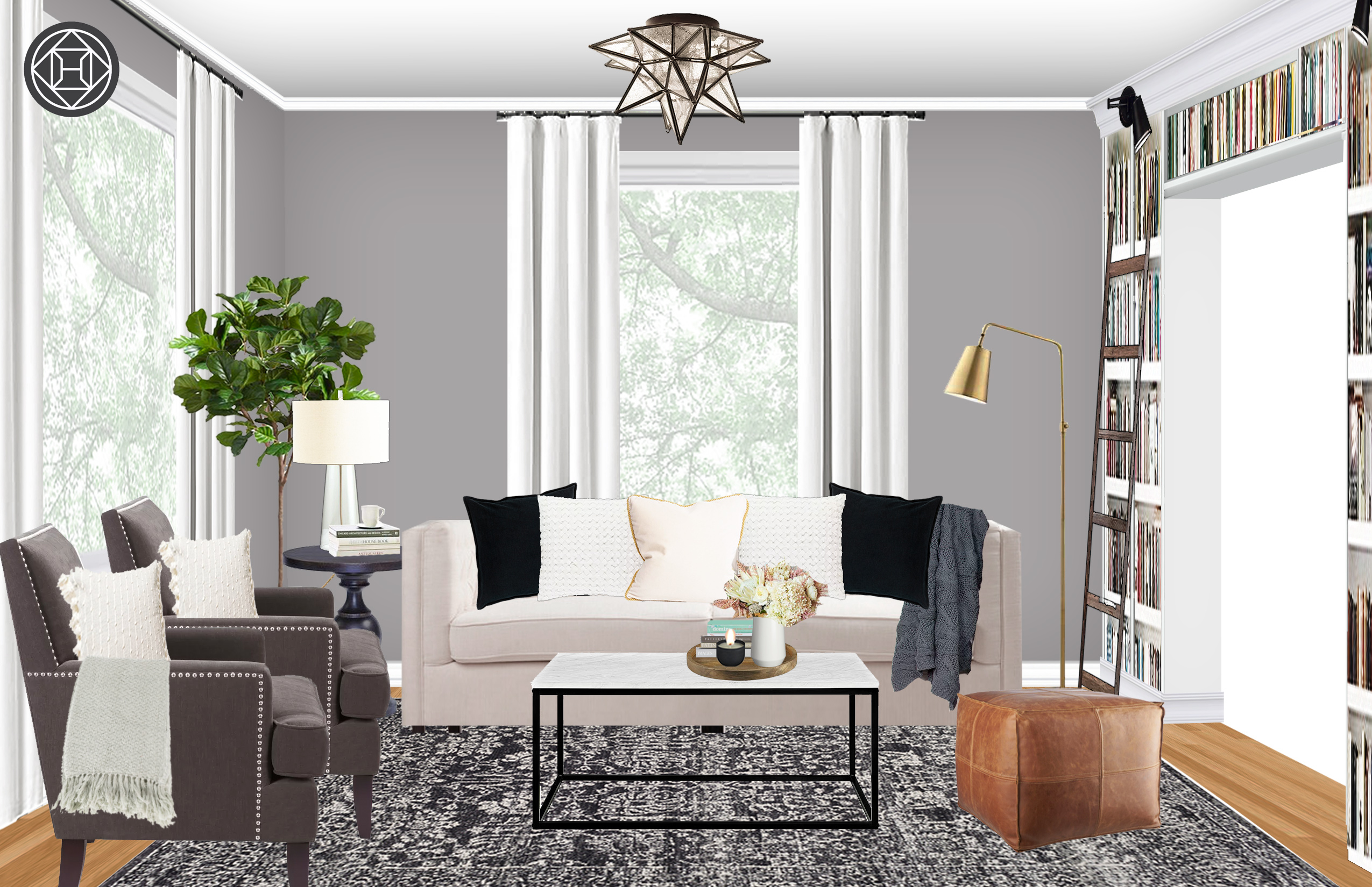 Contemporary, Classic, Bohemian, Rustic, Transitional Living Room