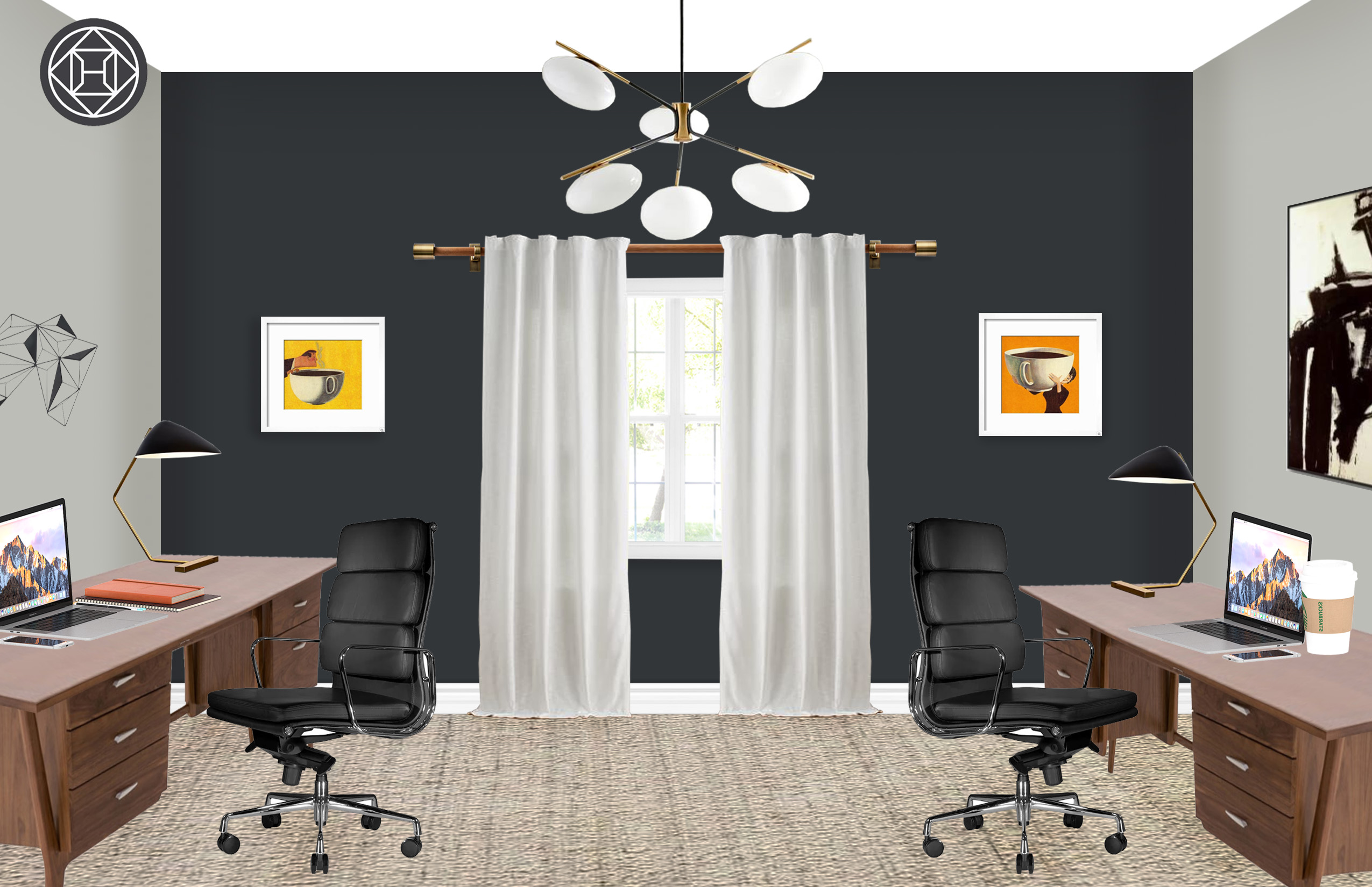 Midcentury Modern Office Design By Havenly Interior Designer By Cris