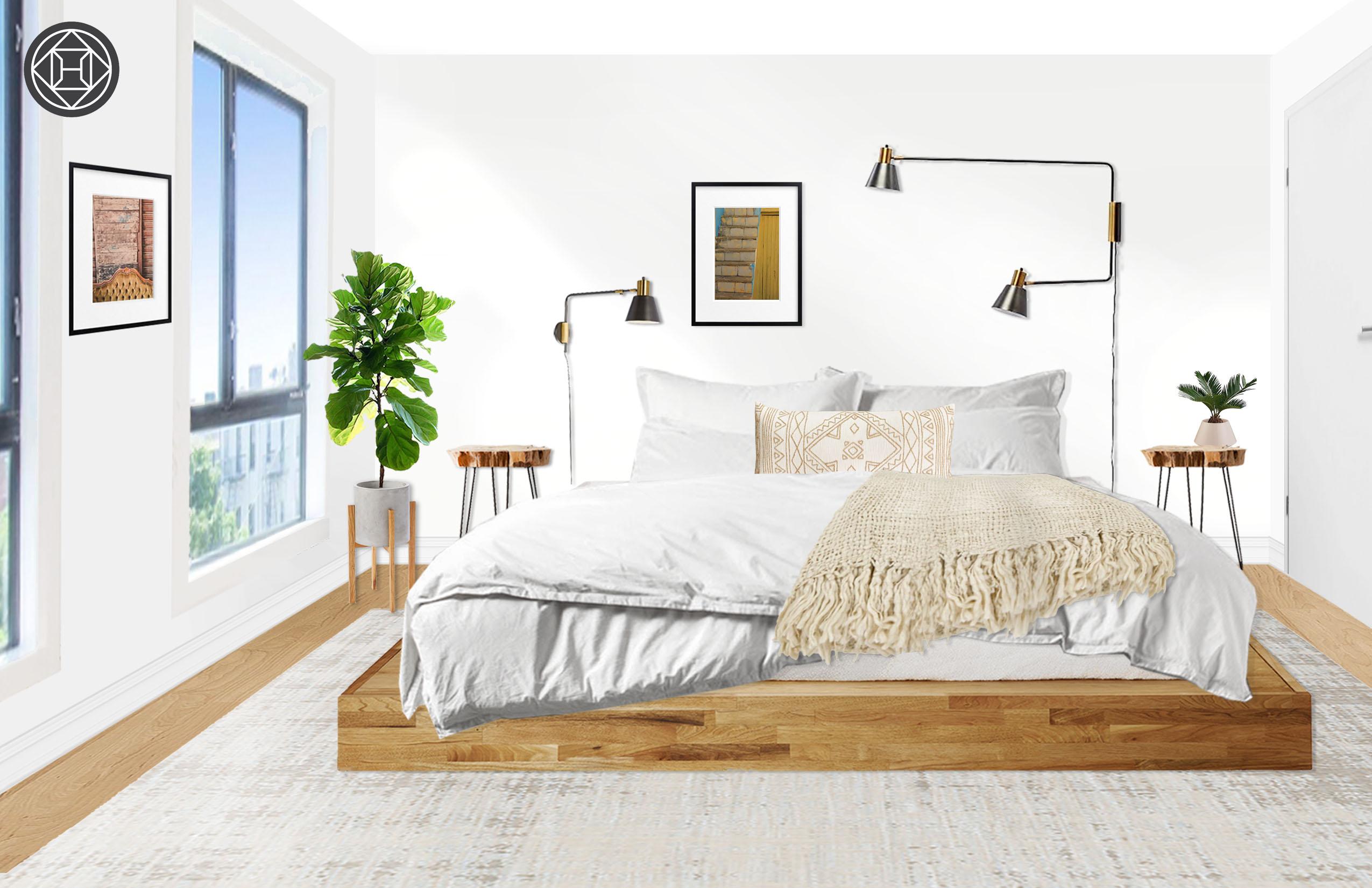 Lax Series Platform Bed eclectic, bohemian, minimal, scandinavian bedroom design
