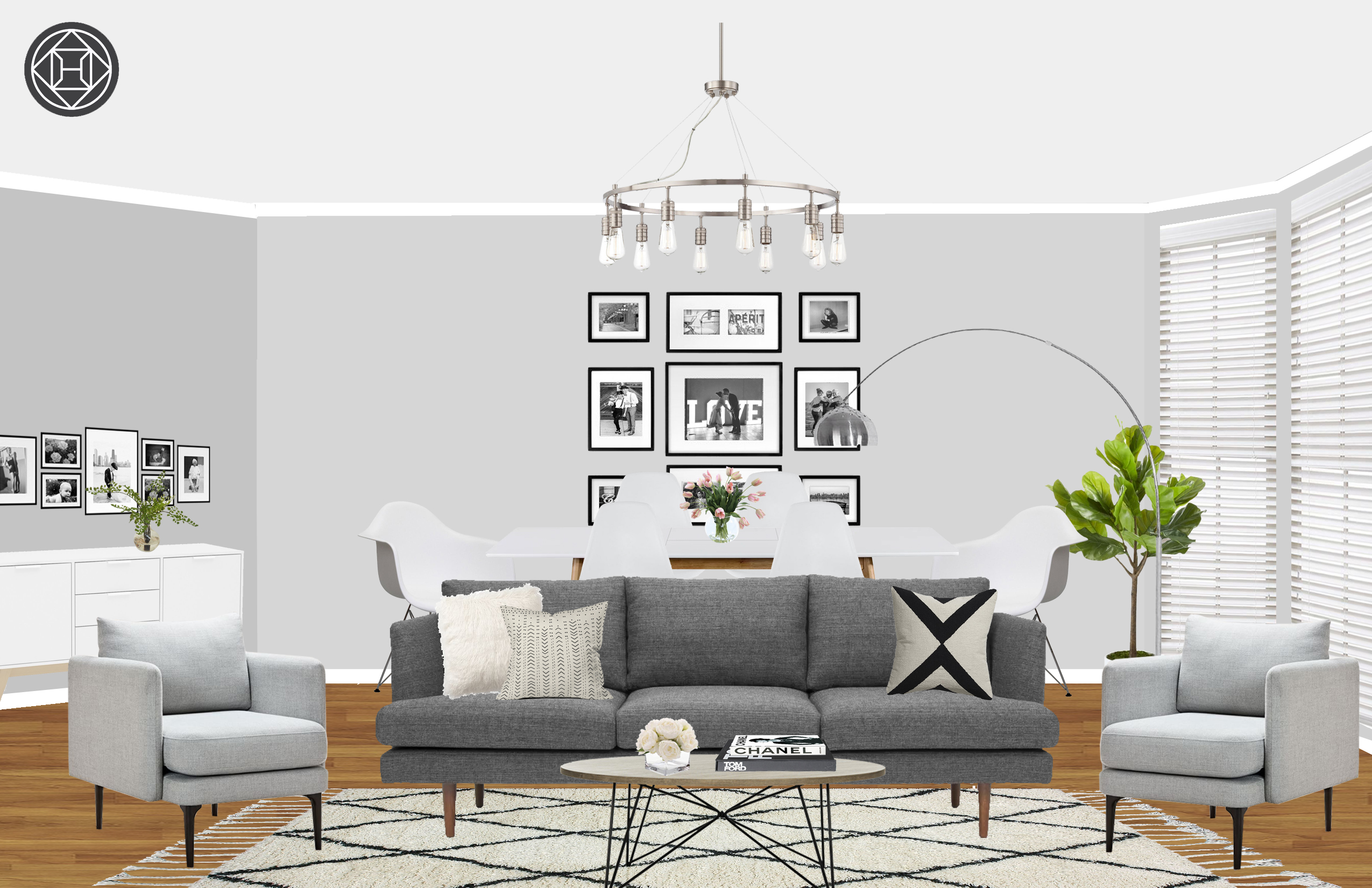 Contemporary Modern Eclectic Midcentury Modern Minimal