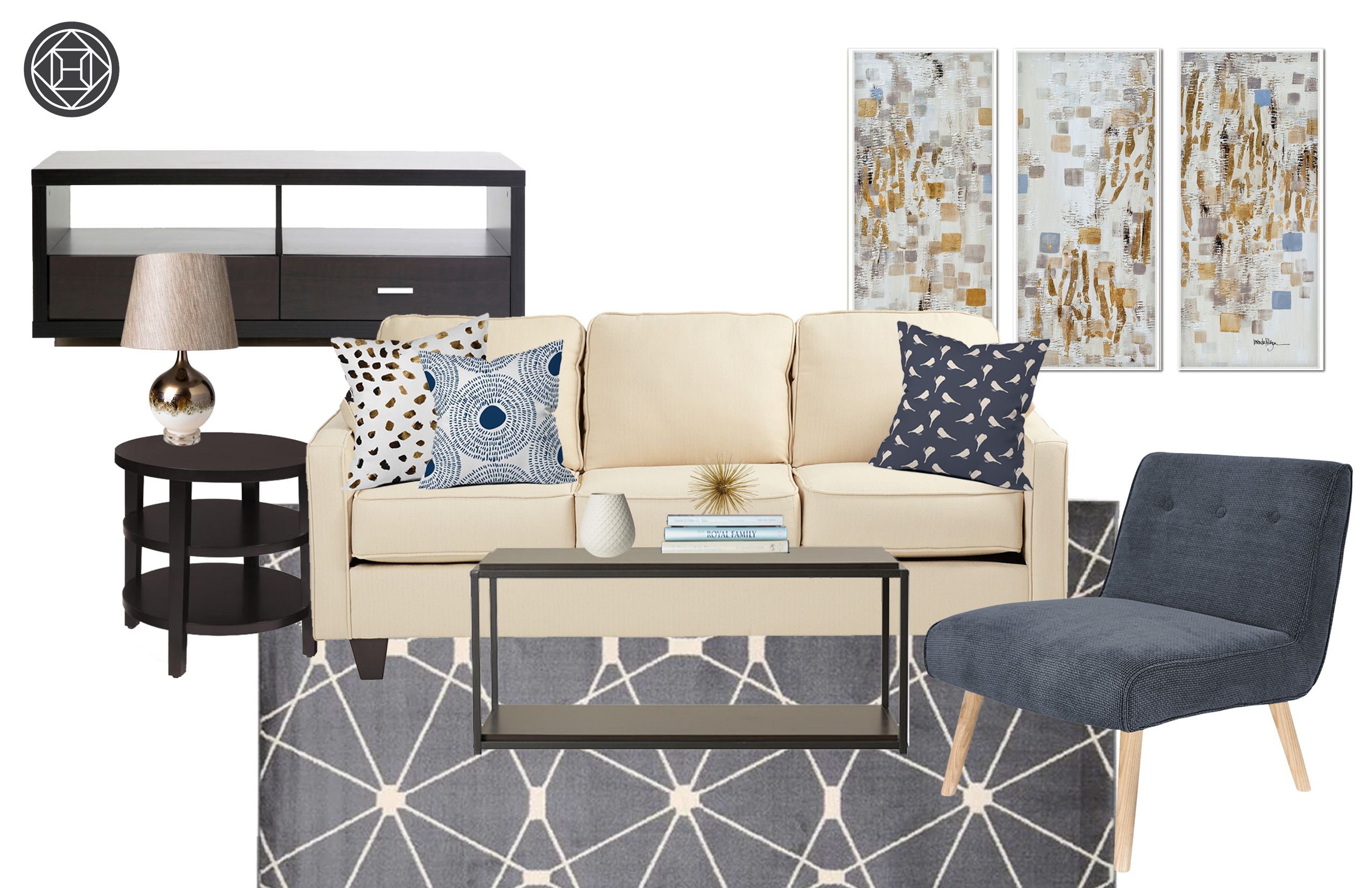 Contemporary Modern Living Room Design By Havenly Interior Designer
