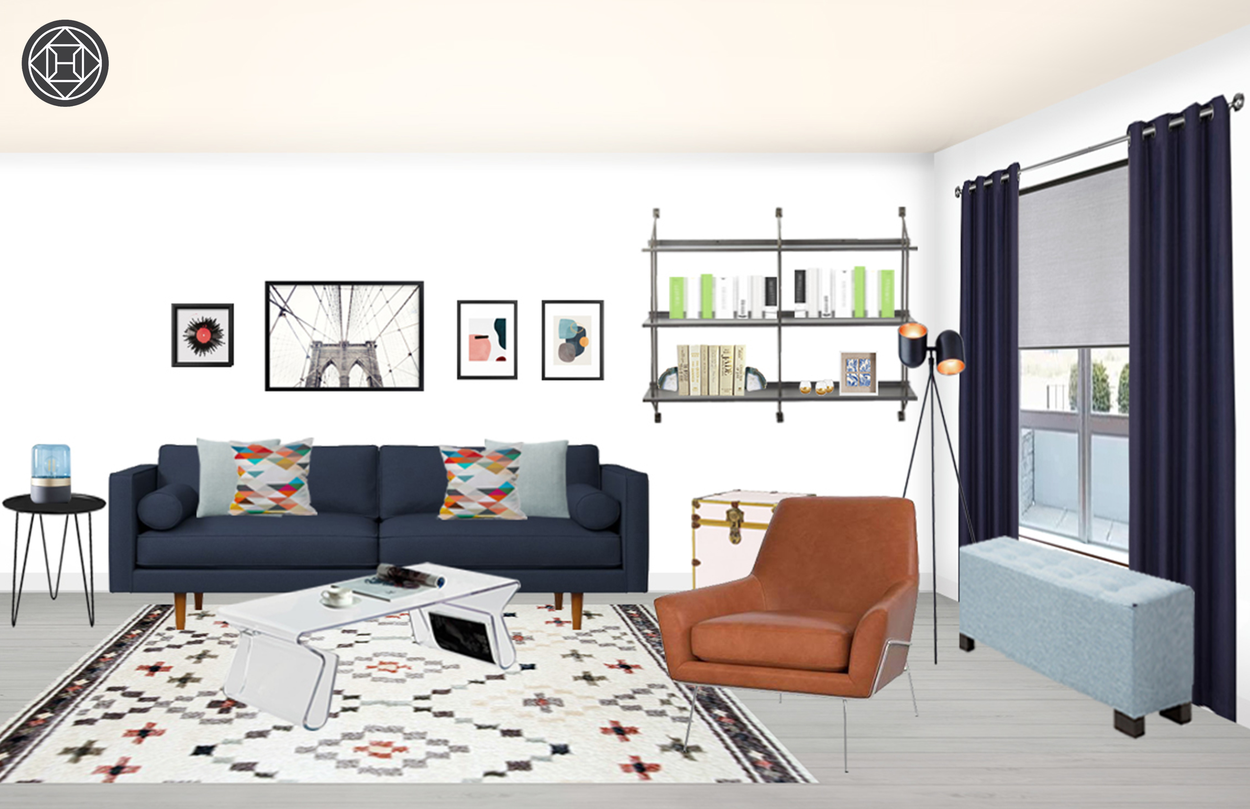 Modern Eclectic Scandinavian Living Room Design By Havenly