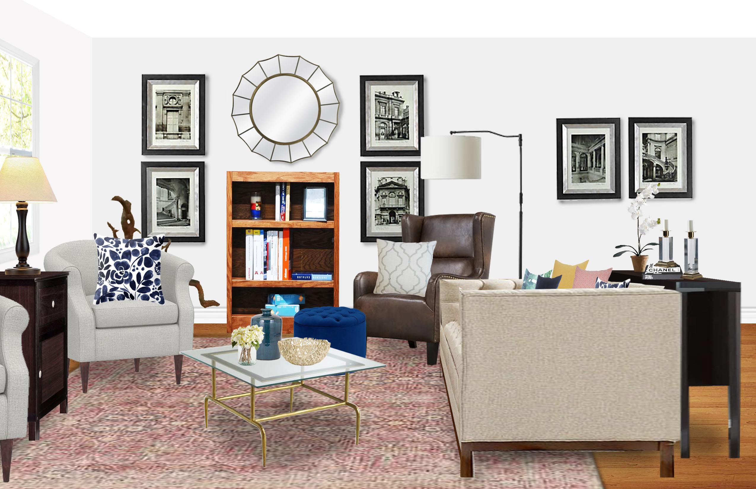 contemporary, glam living room designhavenly interior designer