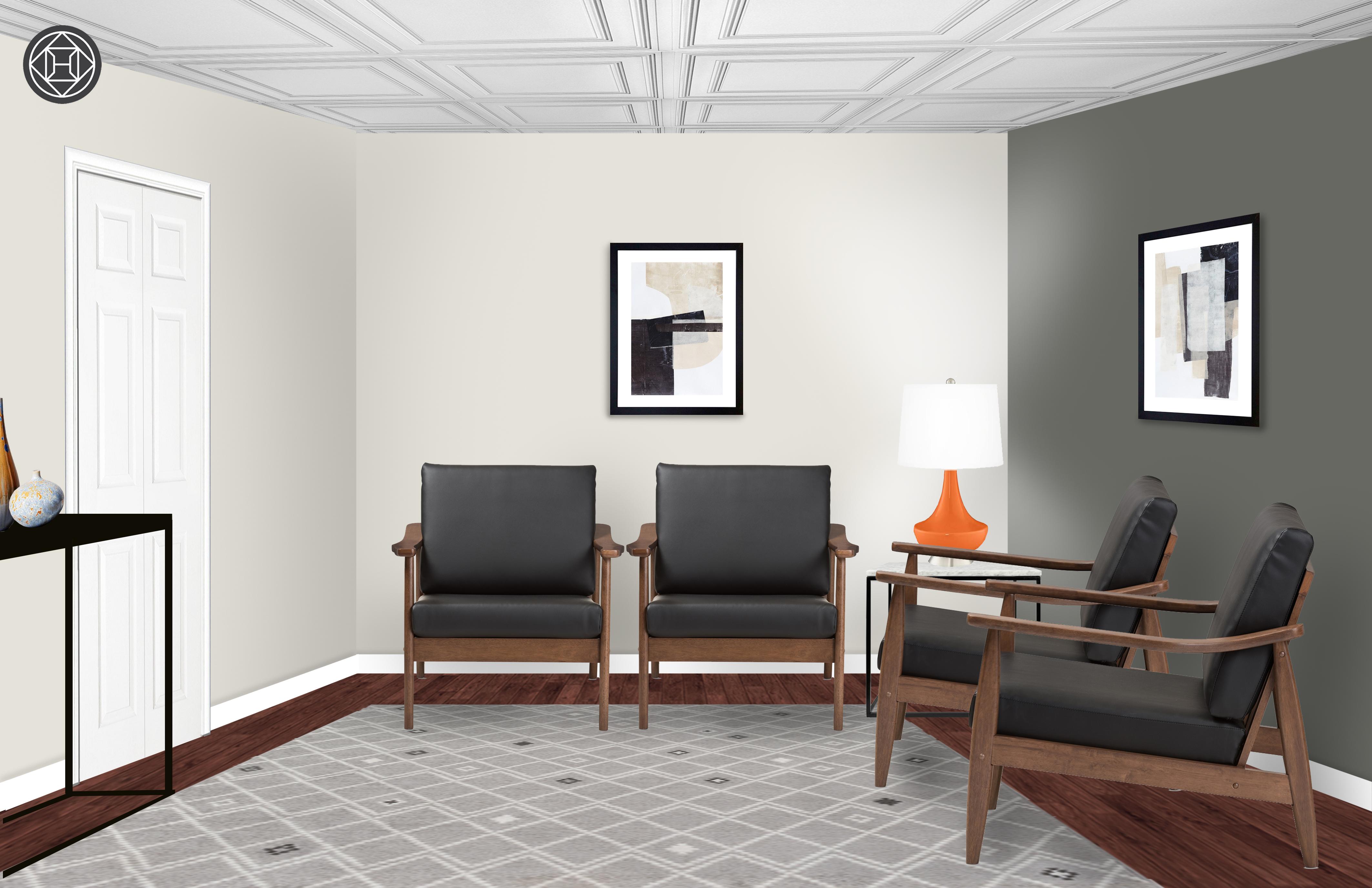 Modern Midcentury Modern Office Design By Havenly Interior Designer