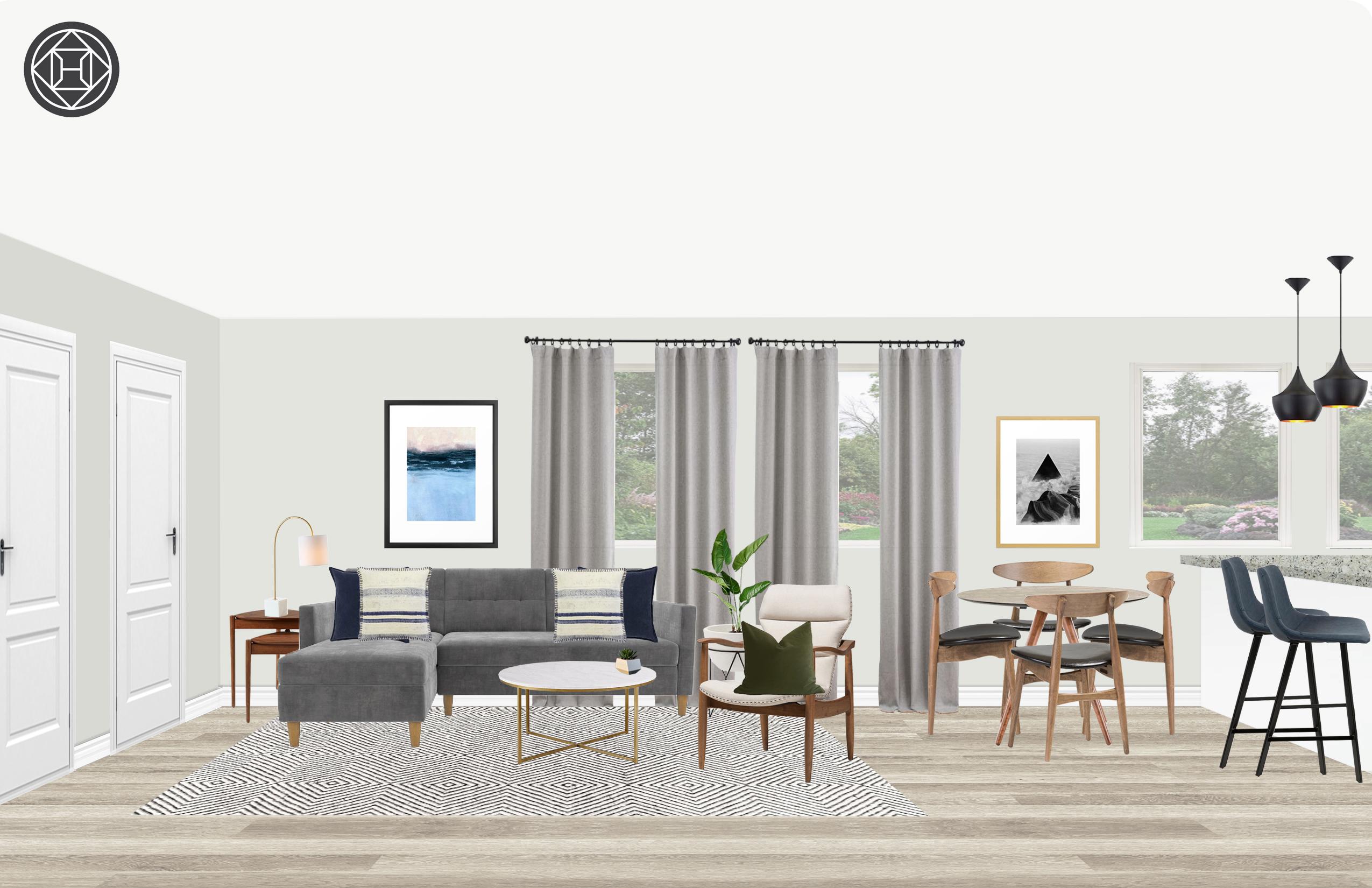 fc1e235f106c Modern   Scandinavian Living Room Interior Design by Cathrine
