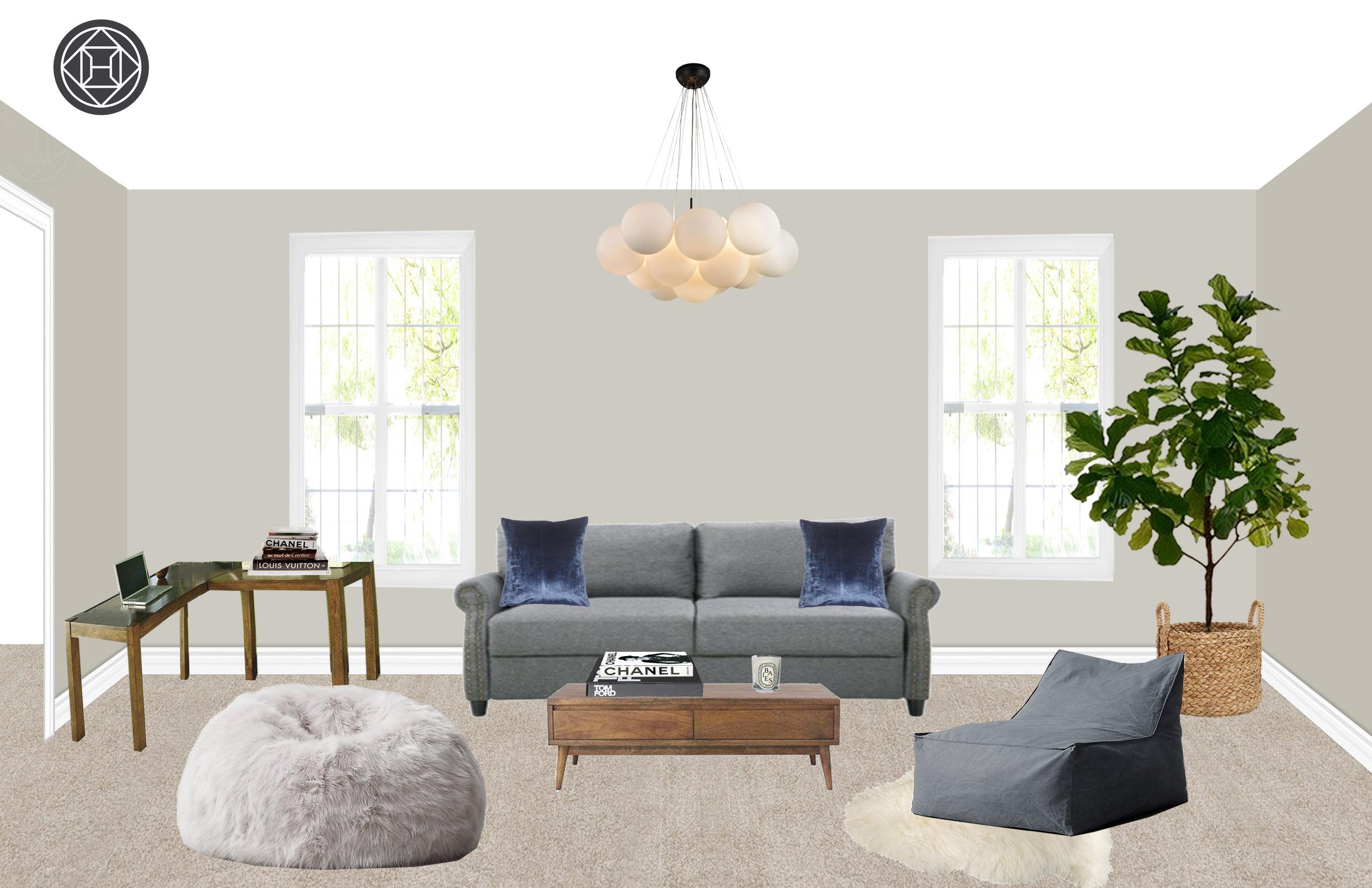 Eclectic Living Room Design By Havenly Interior Designer Jessie