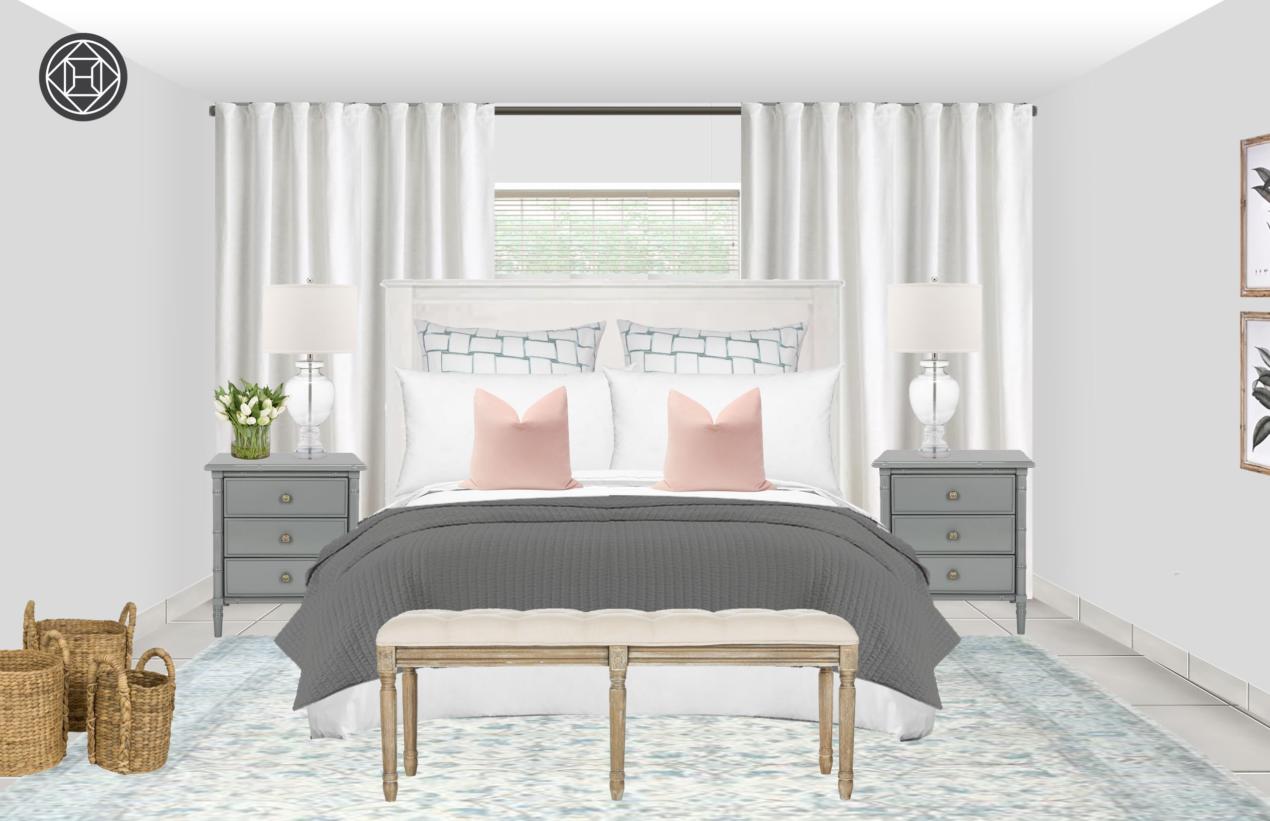 Classic Farmhouse Bedroom Design By Havenly Interior