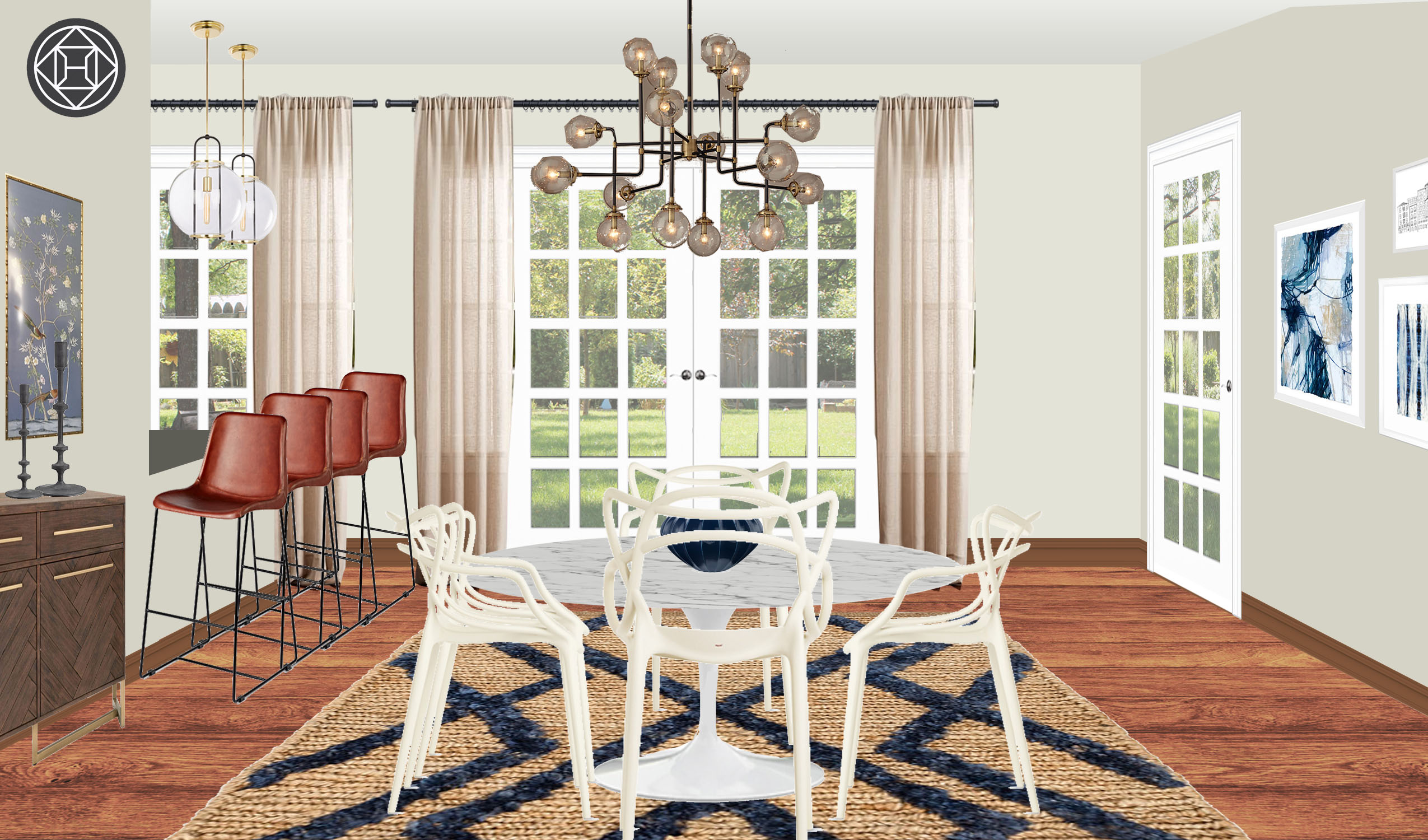Pallavi Modern Meets Classic In A Dining Room