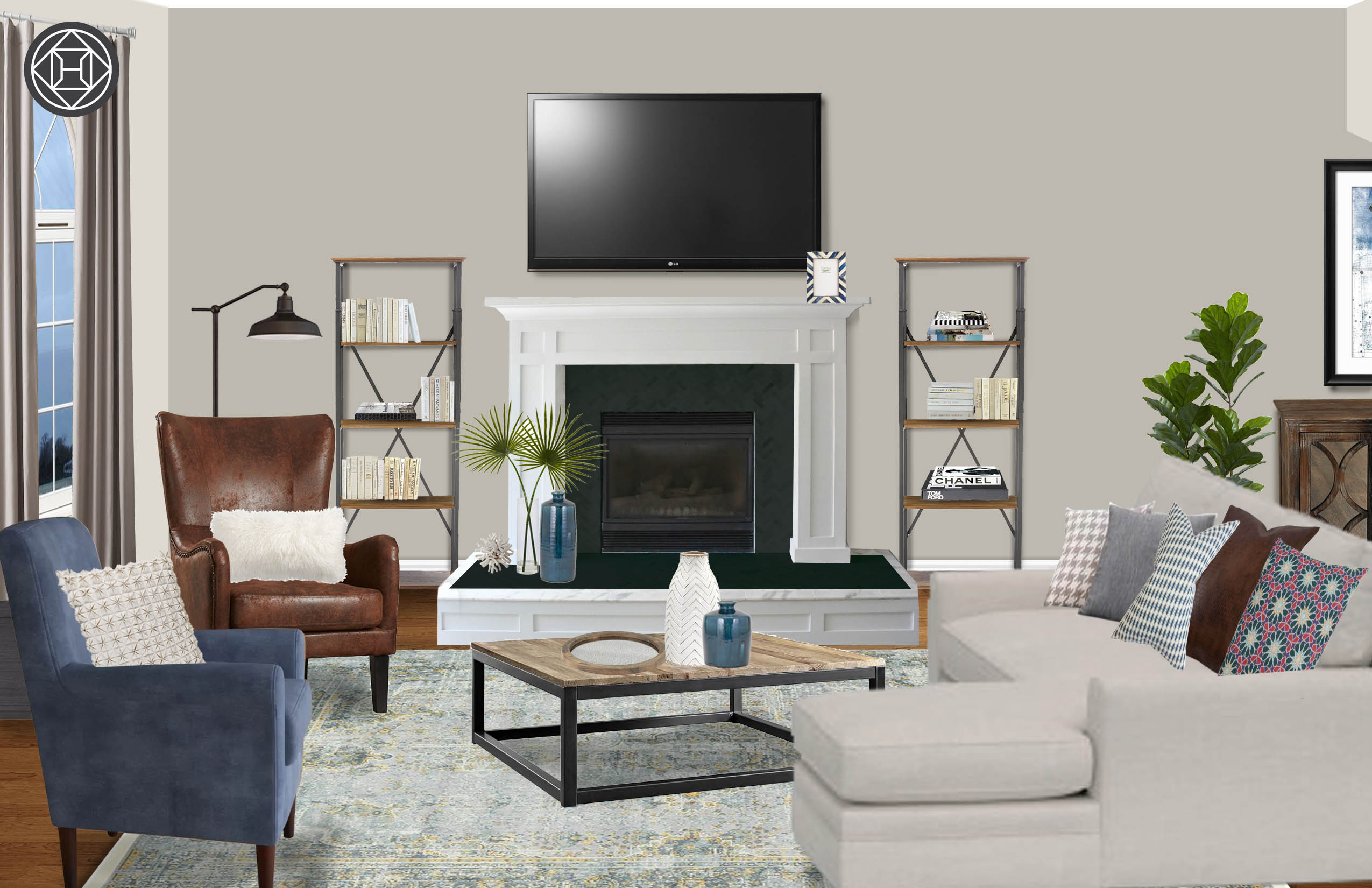 Classic Coastal Global Living Room Design By Havenly