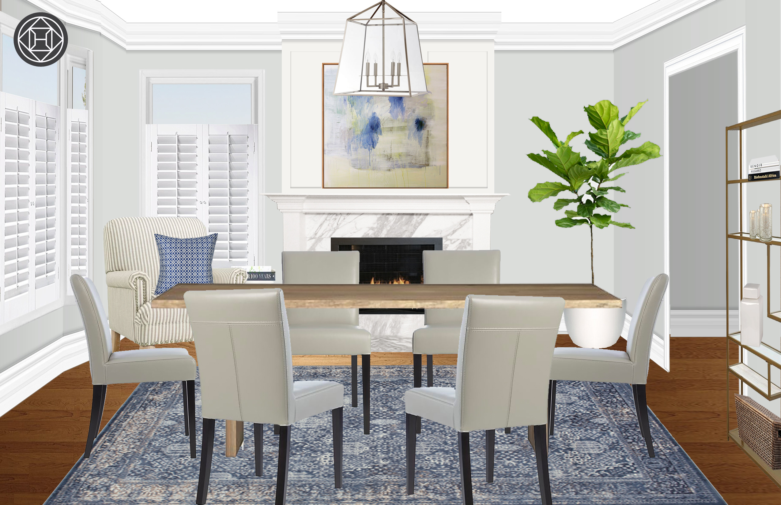 Contemporary, Farmhouse, Transitional Dining Room Design by ...