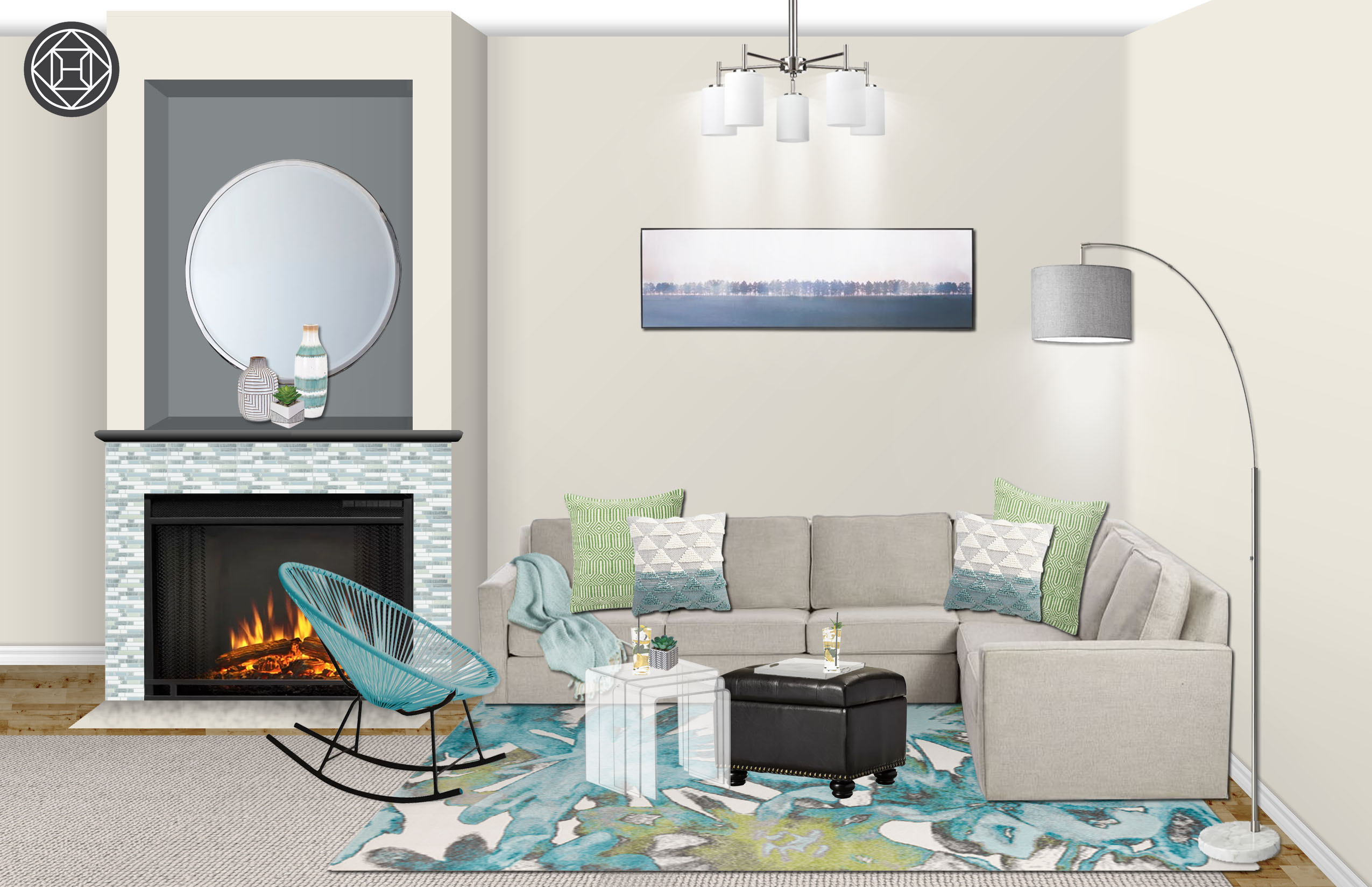 Contemporary Modern Coastal Living Room Design By Havenly