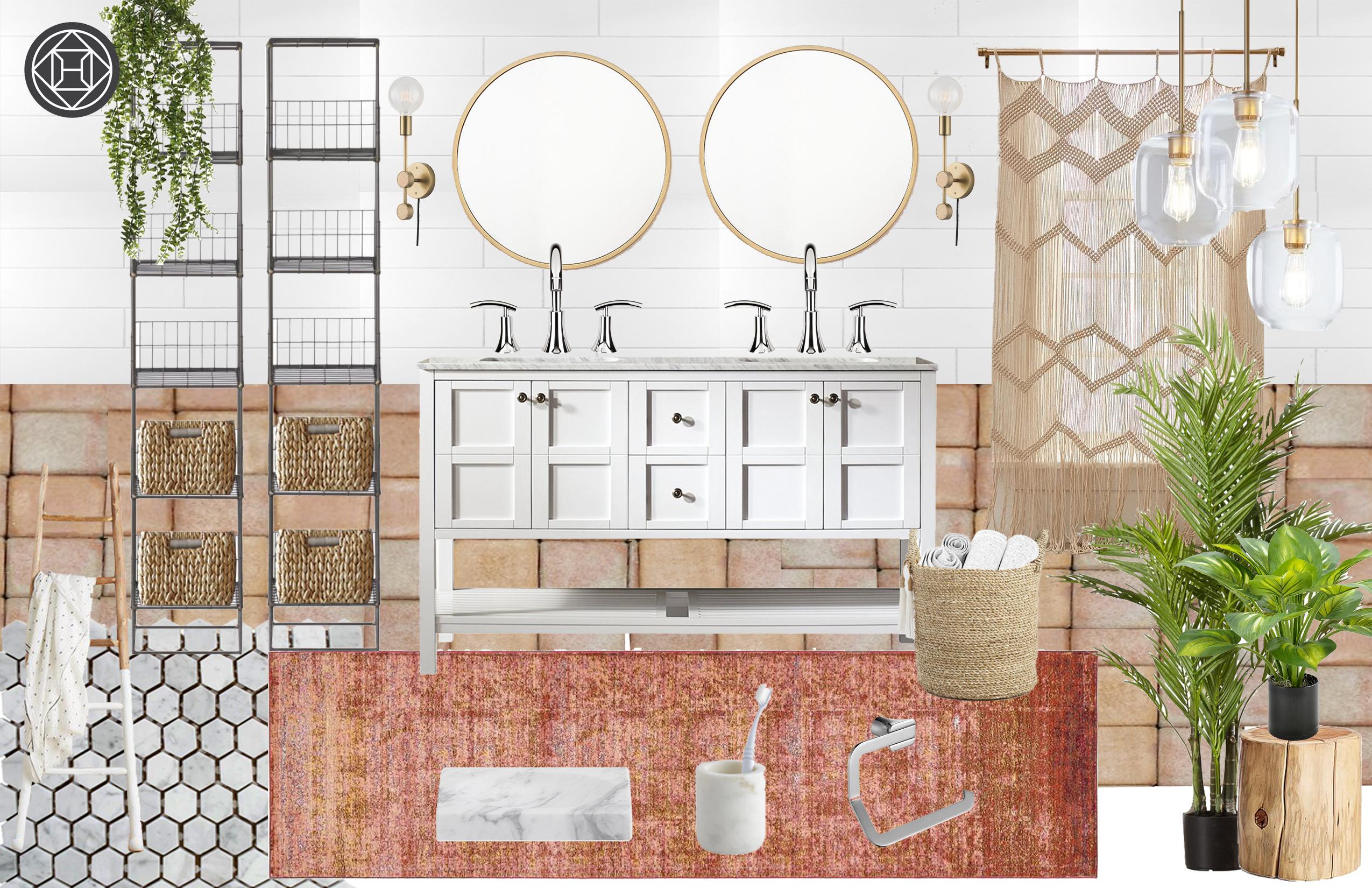 Bohemian, Scandinavian Bathroom Design by Havenly Interior Designer ...