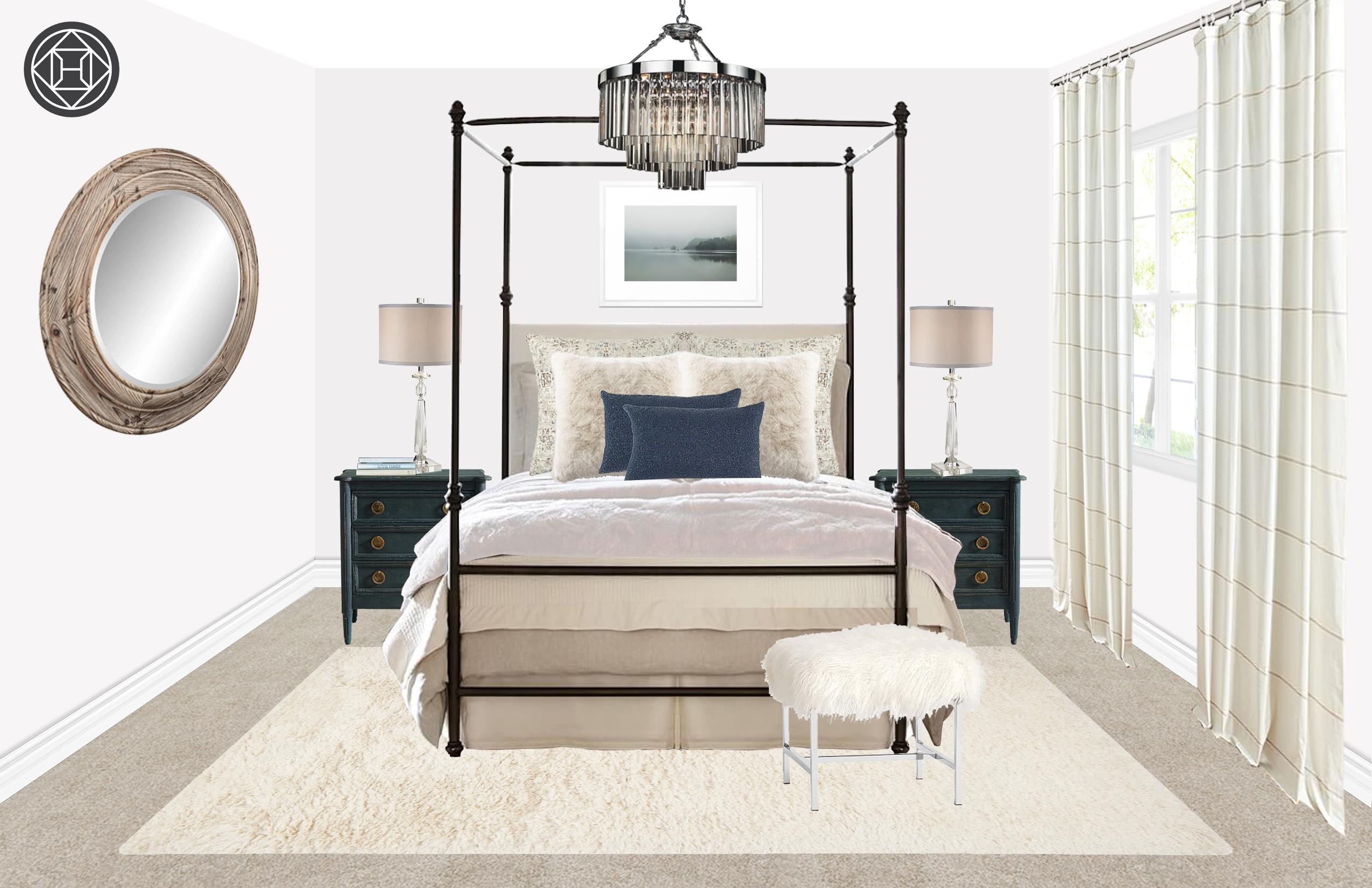 modern, glam, rustic bedroom designhavenly interior designerjill