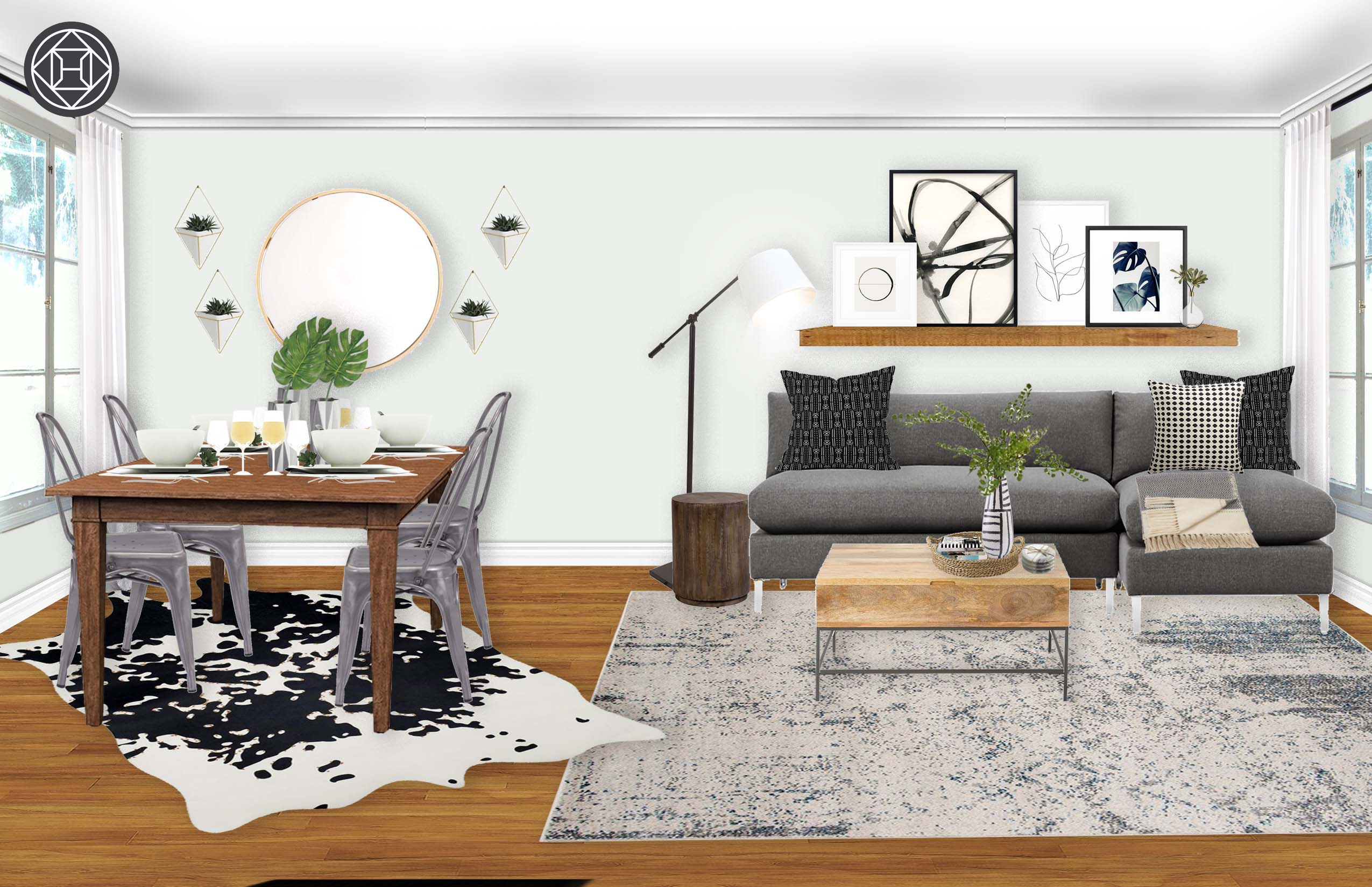 Modern, Eclectic Living Room Design by Havenly Interior ...